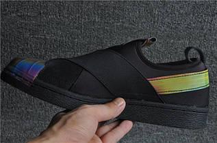 Кроссовки мужские Adidas Superstar Slip On / ADM-1224 (Реплика)