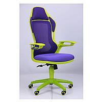 Кресло Рэйсер (Racer) - сетка фиолетовая,каркас зеленый