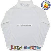 Белый гольф водолазка для девочек Размеры: 8 и 10 лет (4392-1)
