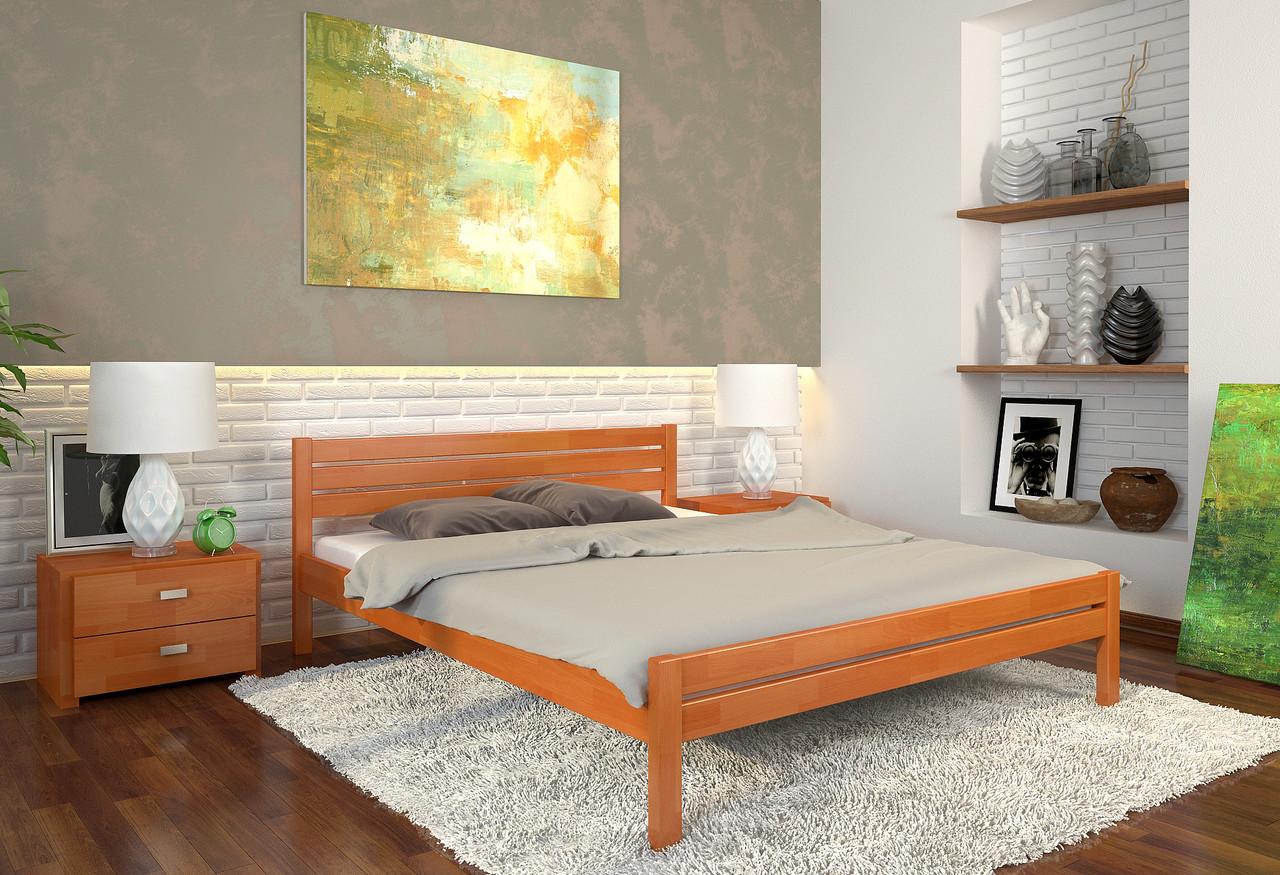 Кровать деревянная Роял из натурального дерева односпальная, фото 1
