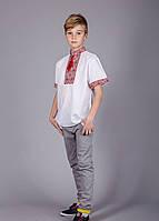 Вышитая рубашка для мальчика с коротким рукавом, фото 1
