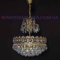 Люстра хрустальная с подвесками IMPERIA одиннадцатиламповая LUX-456513