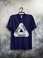 Стильная спортивная мужская футболка Reebok Palace темно-синяя