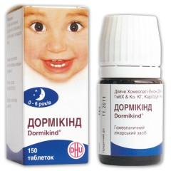 """Успокоительное для детей """"Дормикинд""""-устраняет нарушения сна и бодрствования: бессонниц  (таб 150шт.,Германия)"""