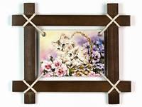 Картина Котята в рамке