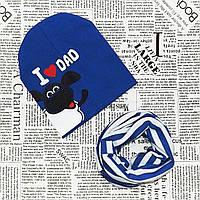 Демисезонный набор: детская шапка и снуд