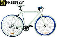 "Fix Profi JOLLY 28"" S700C-1 бело-голубой, фото 1"