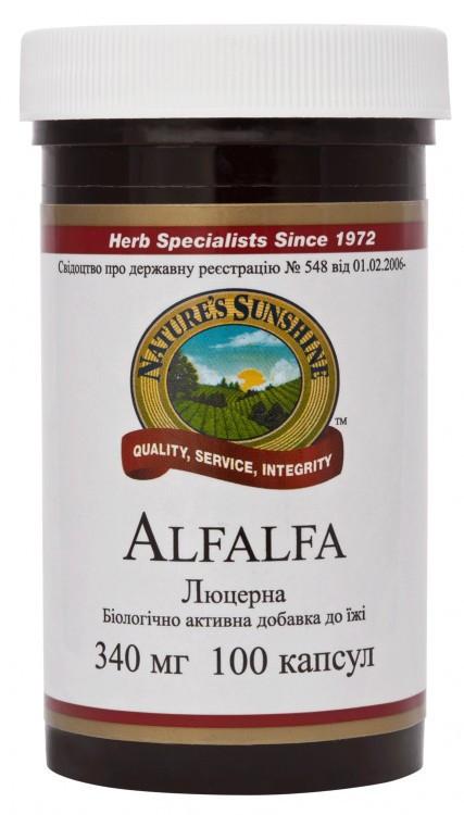 """Препарат для крови и сосудов """"Alfalfa  Люцерна""""-нормализует состояние кровеносной системы.(100капс.США)"""