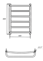 Полотенцесушитель электрический Mario Heat Point-I Люкс 650 x 430 /150, фото 2