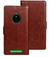 Чехол книжка для  Nokia Lumia 830 коричневый