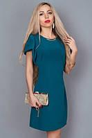 Молодежное летнее платье бутылочного цвета