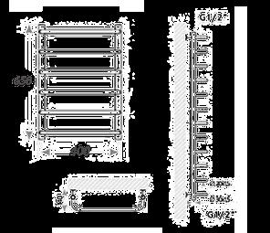 Полотенцесушитель электрический Mario Heat Point-I Стандарт 650 x 430 /150, фото 2