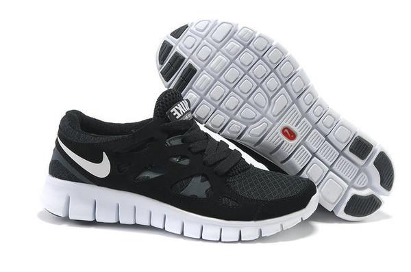 Кроссовки Nike Free Run 2.0 Black White Черные мужские