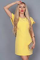 Молодежное летнее платье желтое