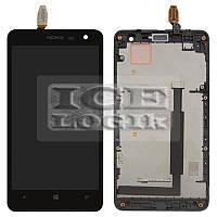 Дисплей для мобильного телефона Nokia 625 Lumia, черный, с рамкой, с сенсорным экраном