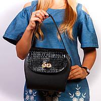 Черная оригинальная сумочка молодежная женская