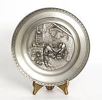 Тарелка оловянная, олово,  Германия,  Карл Шпицвег Бедный художник