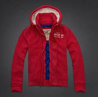 Куртка мужская спортивная Hollister красная и синяя
