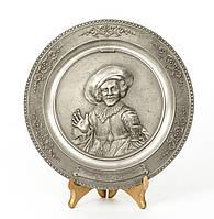 Тарелка настенная, оловянная, олово, Германия, Франц Халс, 21 см