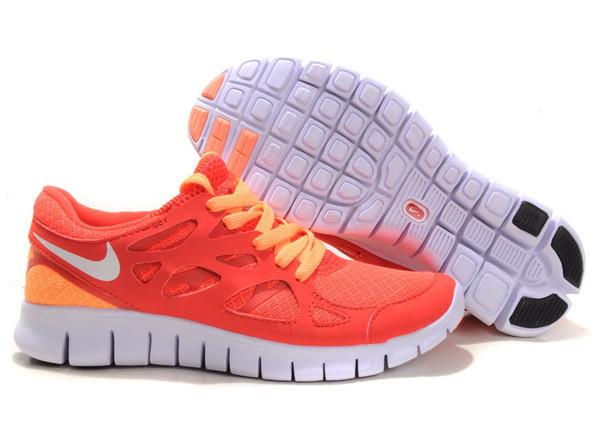 Кроссовки Nike Free Run 2.0 Orange Оранжевые женские