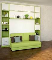 Шкаф-кровать с диваном, пеналом и антресолью