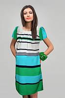 Летнее платье для беременных Салатовая полоска-М