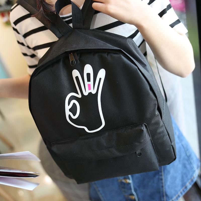Модный молодежный черный рюкзак ОК