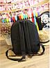 Модный молодежный черный рюкзак ОК, фото 5