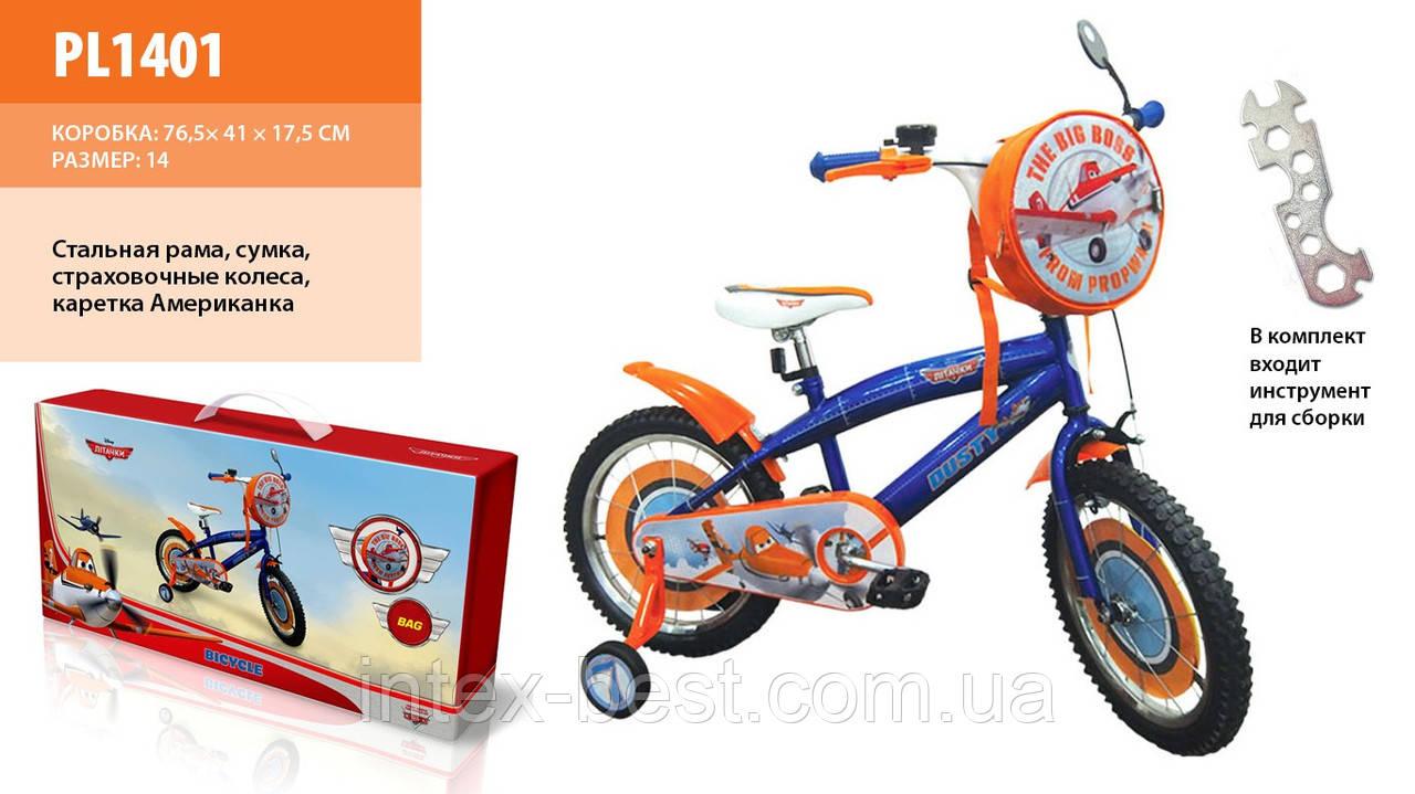 """Детский велосипед PL1401 Disney Planes 14"""""""
