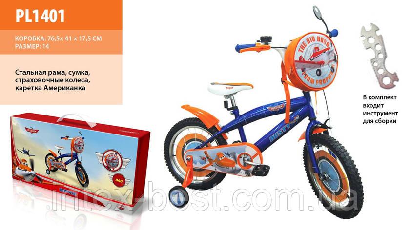 """Детский велосипед PL1401 Disney Planes 14"""", фото 2"""