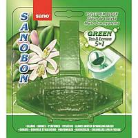Туалетный блок Sano bon 5 в 1 зеленый чай и лимон