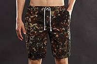 Шорты мужские камуфляжные YSTB Flecktarn Джермани с накладными карманами (рип-стоп, милитари, модные)