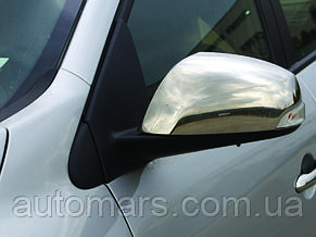 Накладки на зеркала Renault Megane 3 (нерж.)