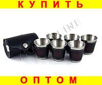 Набор стаканов рюмок в чехле L123A 6 шт герб Украины