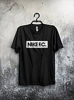 Стильная спортивная мужская футболка Nike F.C черная