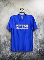 Стильная спортивная мужская футболка Nike F.C синяя