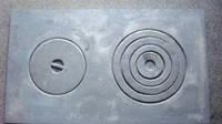 Плита чугунная двухкамфорочная 410х710мм (Бучач),4108