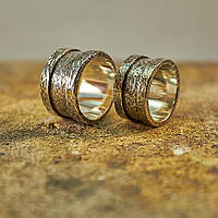 Кованые кольца с гравировкой