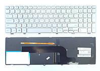 Клавиатура для ноутбука DELL (Inspiron: 7537) rus, silver, подсветка клавиш, с фреймом
