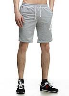 Шорты мужские трикотажные YSTB серые на резинке (спортивные, модные, молодежные)
