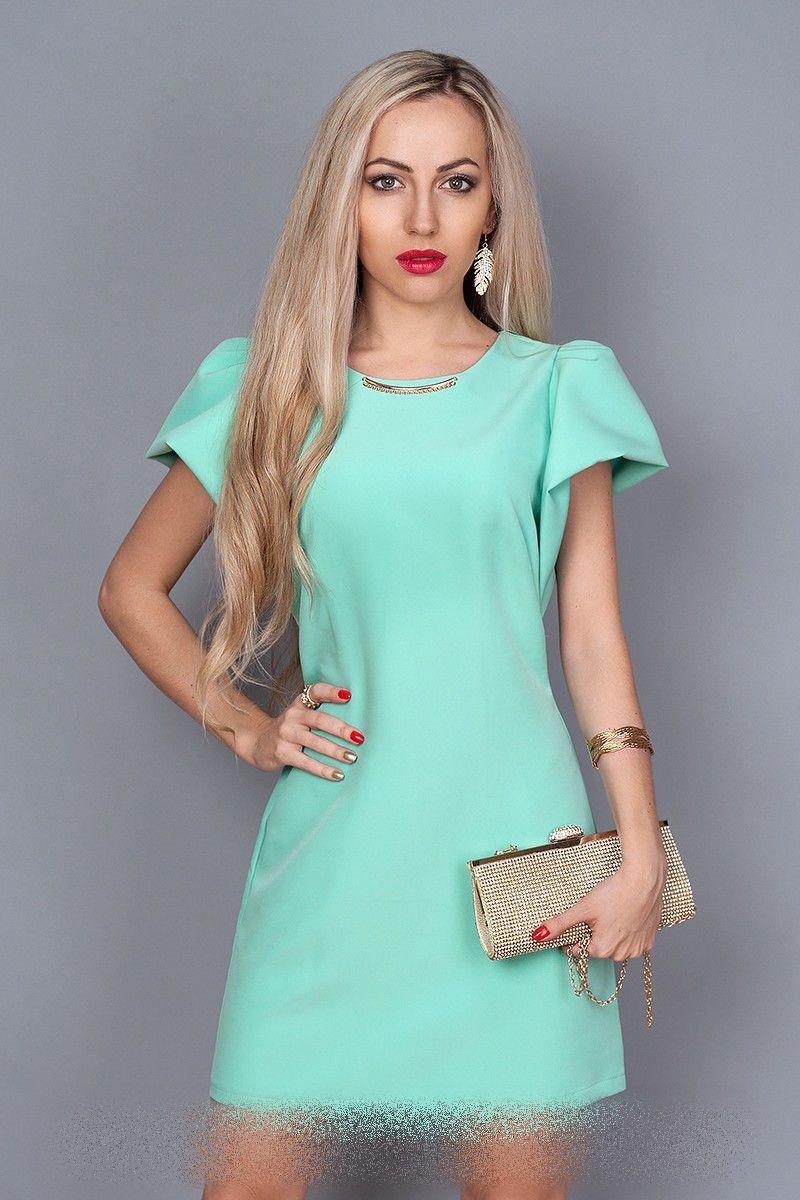 Молодежное платья Мята