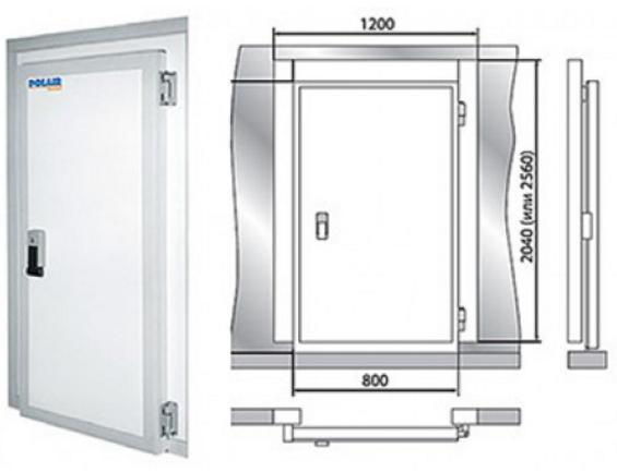 Дверной блок холодильной камеры Polair