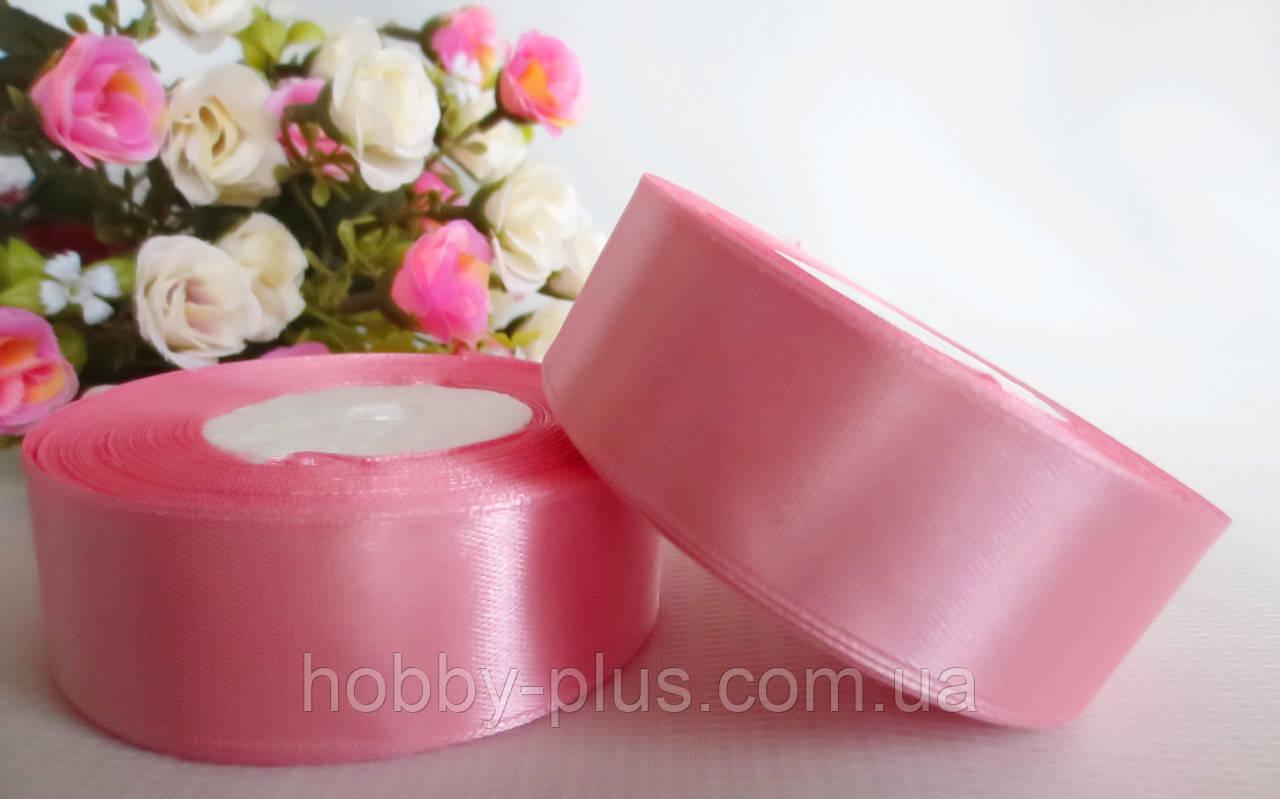 Атласная лента 2,5 см, цвет нежно-розовый