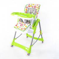 Стульчик для кормления Baby Tilly T-651, 6 уровней высоты, 3 положения спинки, съемный столик, салатовый