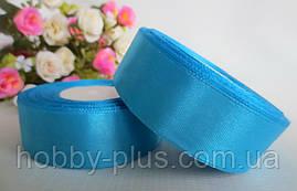Атласная лента 2,5 см, цвет небесно-голубой