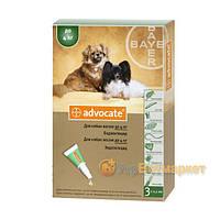 Advocate (Адвокат) капли на холку от блох и клещей для собак до 4 кг, 1 пип. по 0,4мл, Bayer (Байер)