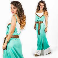Бирюзовое платье 15552