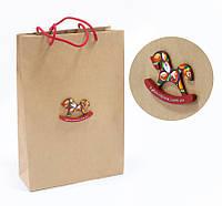 Подарочный бумажный пакет с логотипом компании