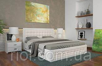 Ліжко дерев'яне двоспальне Рената Д з підйомним механізмом