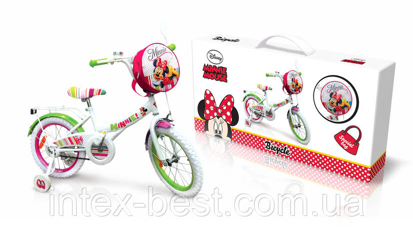 "Детский велосипед Disney Minnie Mouse 14"" M1401, фото 2"